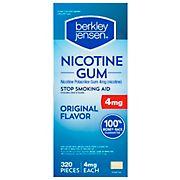 Berkley Jensen 4mg Uncoated Nicotine Gum, 320 ct.