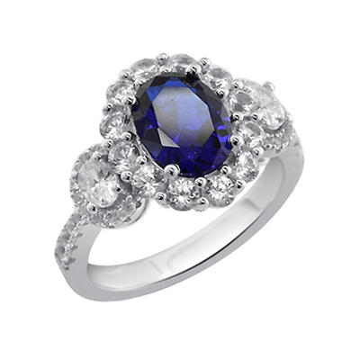 2.50 ct. t.w. Created Sapphire Ring in Sterling Silver