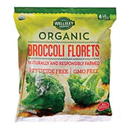 Wellsley Farms Organic Broccoli Florets, 4 lbs.