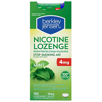 Berkley Jensen 4mg Mint Nicotine Lozenge 189 ct.