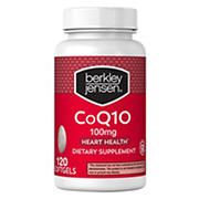 Berkley Jensen 100mg CoQ10 Softgels, 120 ct.
