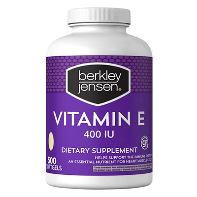 Berkley Jensen 400 IU Vitamin E Supplement, 500 ct.