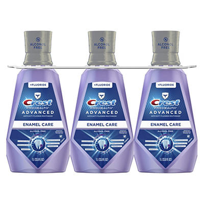 Crest Pro-Health Advanced Clean Mint Mouthwash with Extra Deep Clean,