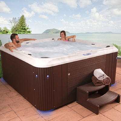 Celestial Spas Belmont 7-Person 80-Jet Acrylic Spa with Bluetooth - Wh