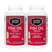 Berkley Jensen 1,200mg Fish Oil Softgels, 2 pk./200 ct.