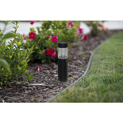 Berkley Jensen 5-Lumen Bollard Solar Path Lights, 8 pk. - Black