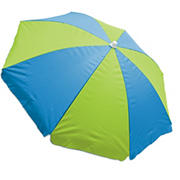Rio 6' Beach Umbrella with Built-In Sand Anchor - Blue/Green