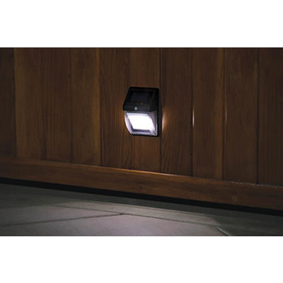 Berkley Jensen 40-Lumen Solar Motion Deck Lights, 2 pk. - Black