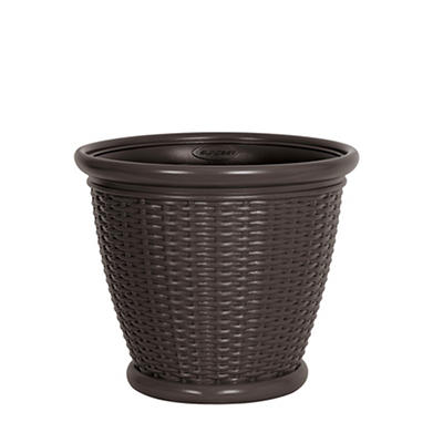 "Suncast 18"" Wicker Planter"