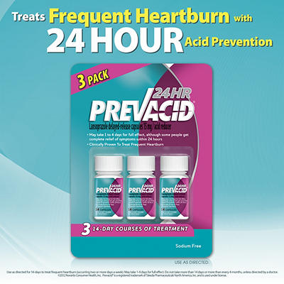 Prevacid 24HR 15mg Acid Reducer Capsules, 3 pk./14 ct.