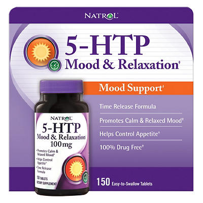 Natrol 5-HTP Mood and Relaxation 100mg Tablets, 150 ct.