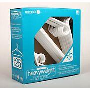 Merrick Heavyweight Plastic Hangers, 25 pk. - White