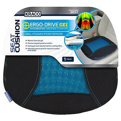 "Kraco Ergo-Drive 18"" x 14"" Posterior Gel Comfort Cushion"