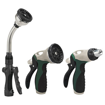 Orbit 3-Pc. Zinc Nozzle Set - Silver/Green