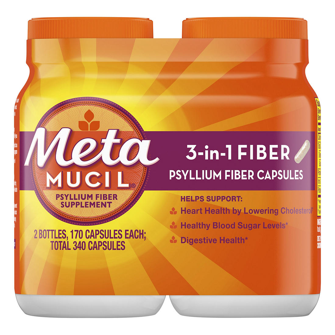 graphic relating to Metamucil Coupons Printable identify Metamucil Psyllium Fiber Health supplement Tablets, 2 pk./170 ct.