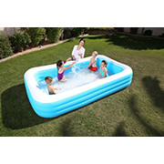 """Bestway H2OGO 6' x 10' x 18"""" Inflatable Family Pool"""
