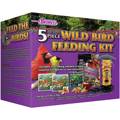 Brown's 5-Pc. Wild Bird Feeding Kit