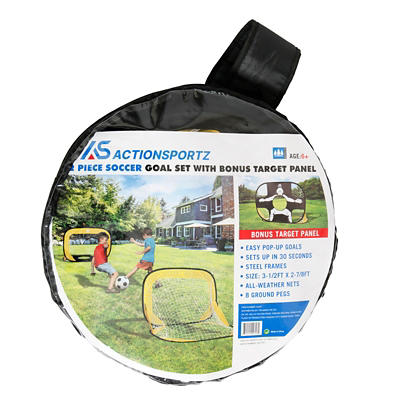 Sportcraft 2-Pc. Soccer Goal Set with Target Panel