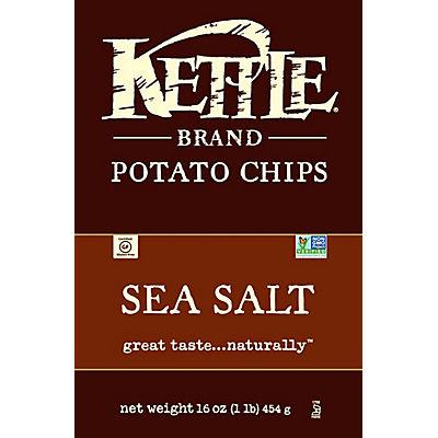 Kettle Sea Salt Potato Chips, 16 oz.
