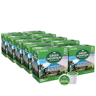 Green Mountain Coffee Roasters Sumatra Reserve Dark Roast Coffee Keurig Single-Serve K-Cup Pods, 10 pk./18 ct.