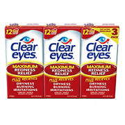 Prestige Clear Eyes Redness Reliever Eye Drops, 3 pk./45mL