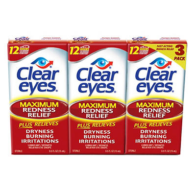 Prestige Clear Eyes Redness Reliever Eye Drops, 3 pk./45mL