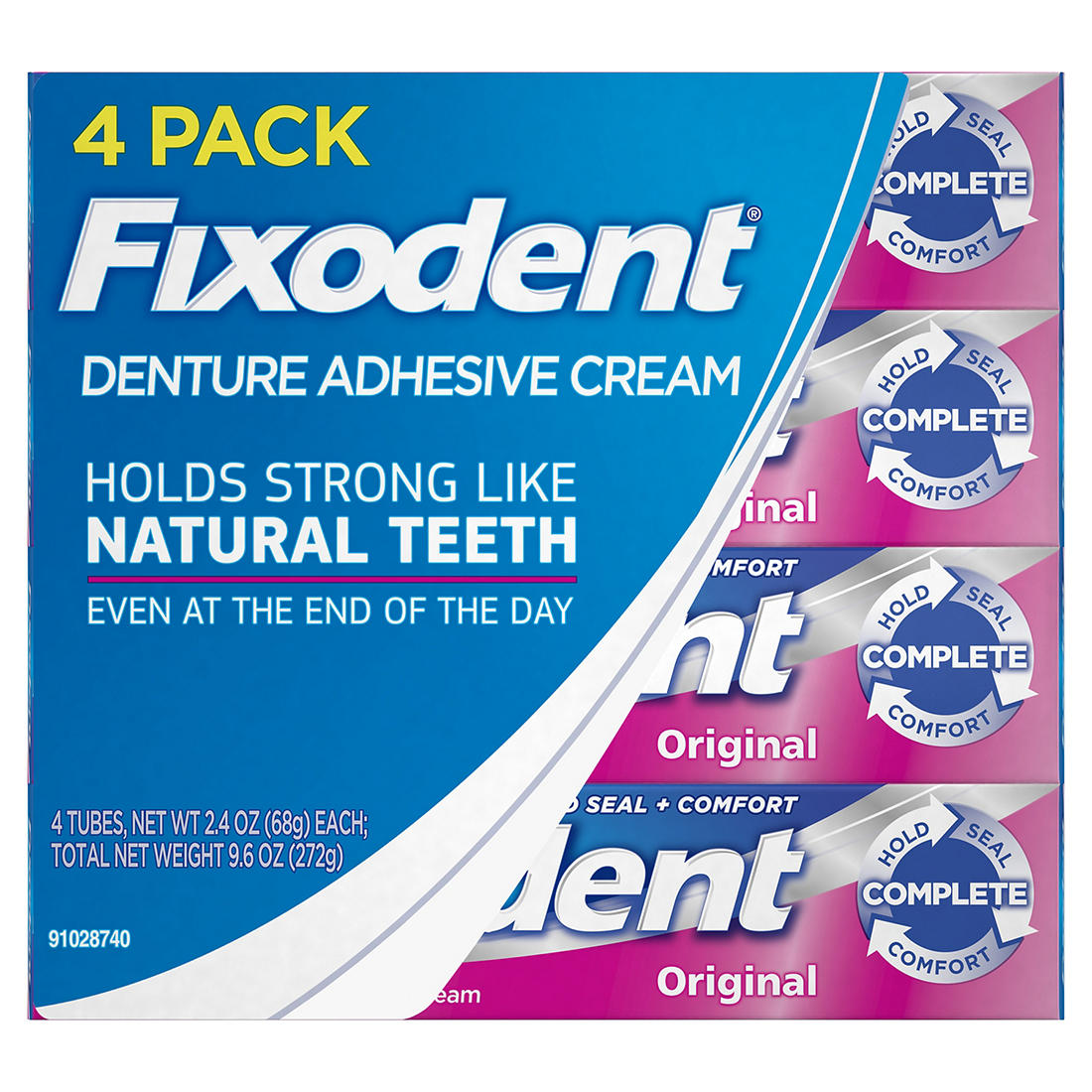 graphic regarding Fixodent Coupons Printable known as Fixodent Detailed Primary Denture Adhesive Product, 4 pk./2.4 oz.