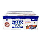 Wellsley Farms 0% Fruit On The Bottom Greek Yogurt, 18 ct.