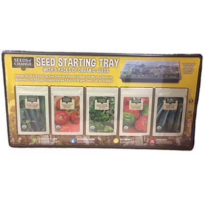 Seeds of Change Starting Tray and Seeds, 5 pk.