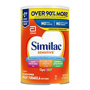 Similac Sensitive For Fussiness and Gas Infant Formula with Iron Powder, 40 oz.