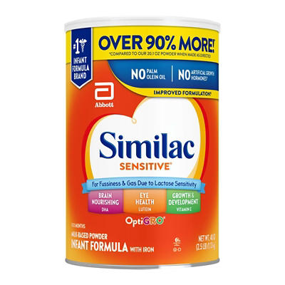 Similac Sensitive For Fussiness and Gas Infant Formula with Iron Powde