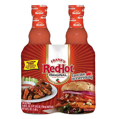 Frank's RedHot Original Wing Sauce, 2 pk./25 oz.