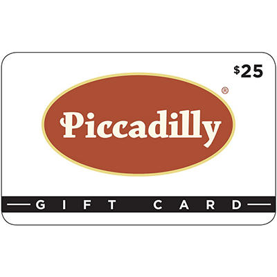 $25 Piccadilly Restaurants Gift Card, 2 pk.