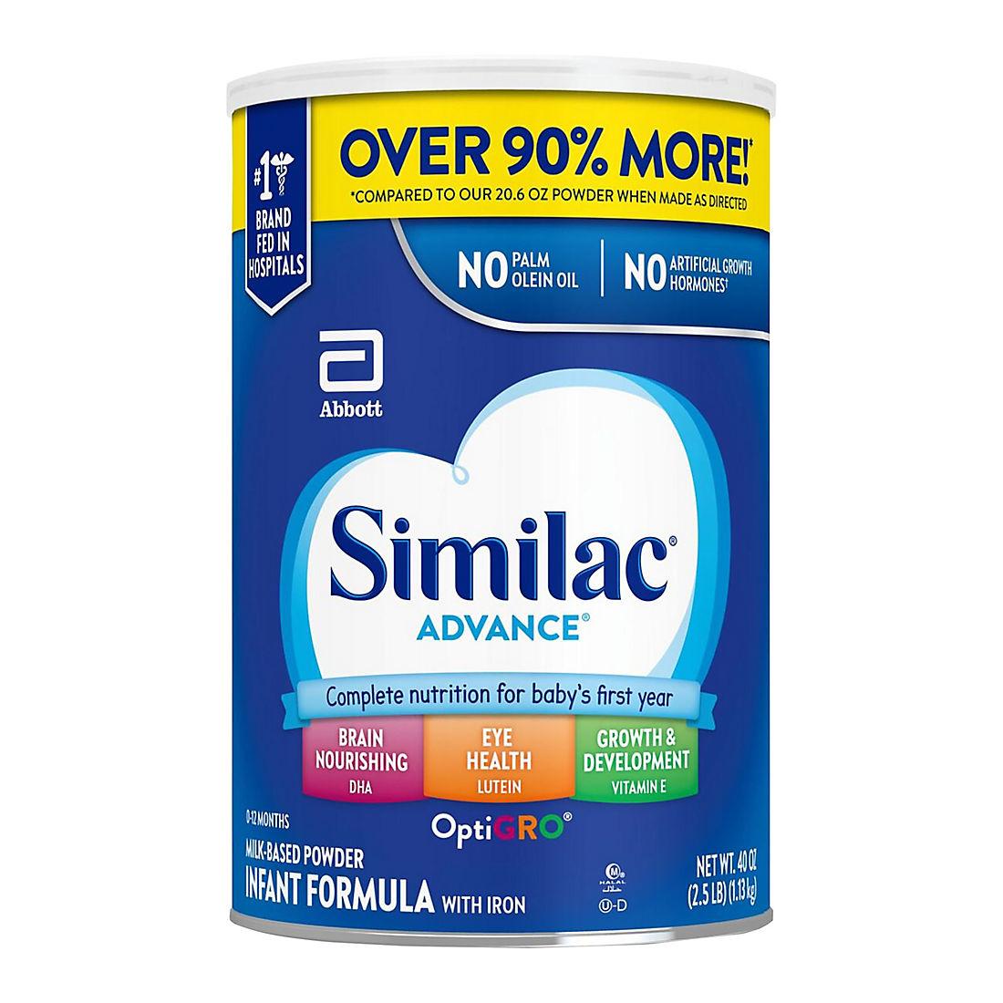 Similac Advance Infant Formula with Iron Powder, 40 oz
