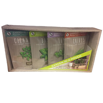 Seeds of Change Garden-In-A-Pouch Herb Kit, 4 pk.