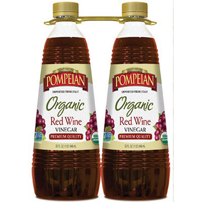 Pompeian Organic Red Wine Vinegar, 2 ct./32 oz.