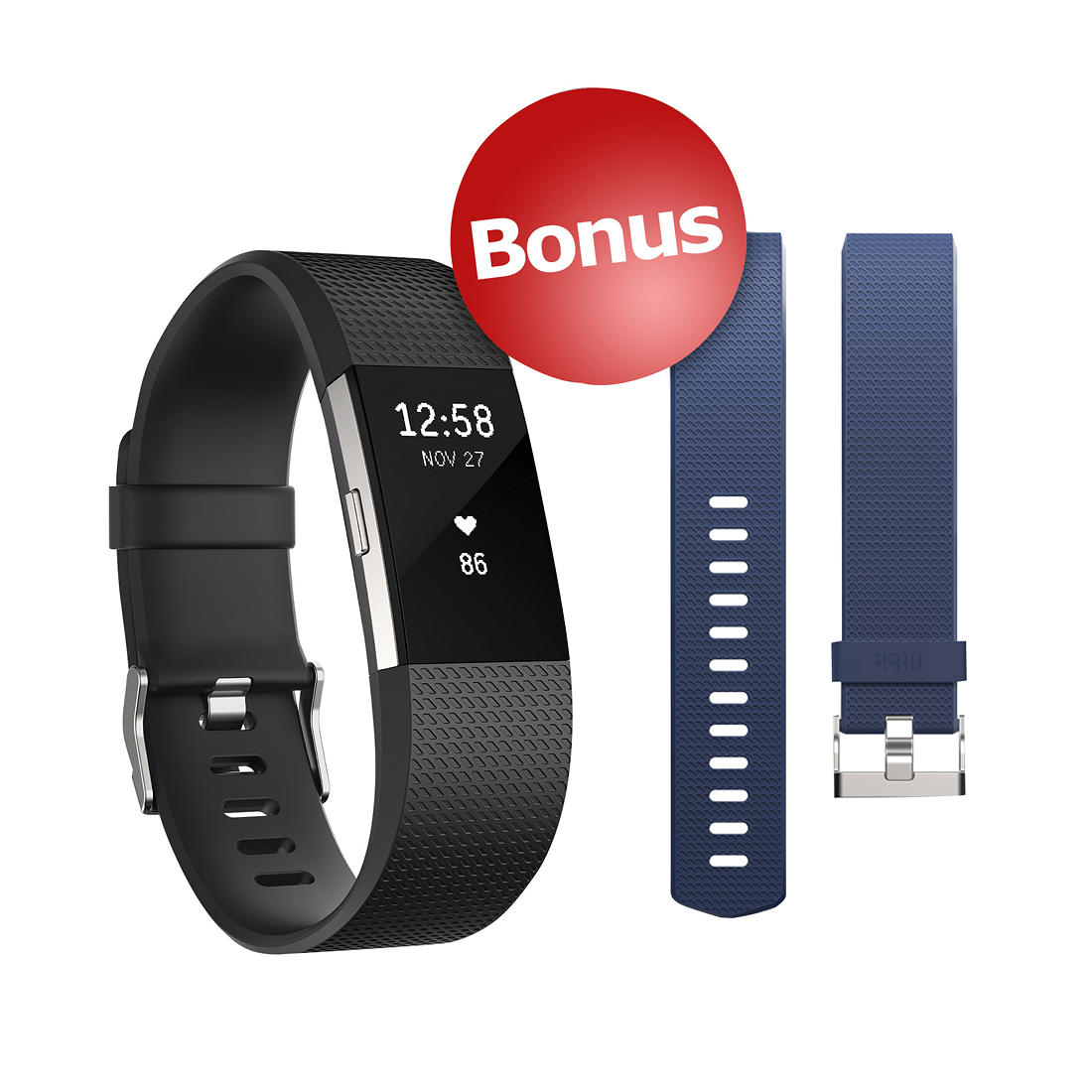 Fitbit Charge HR 2 Wireless Activity Tracker with Bonus Band - Large