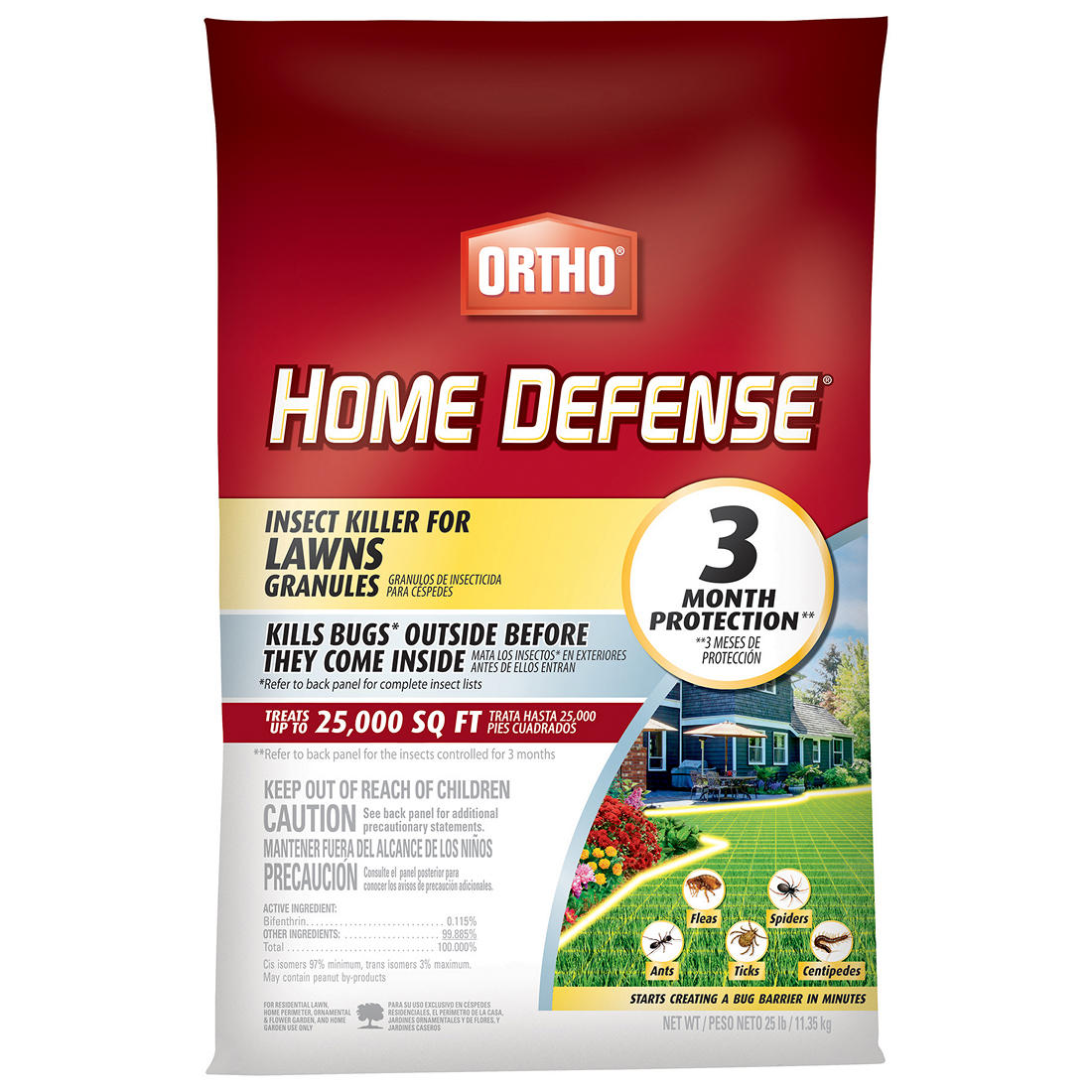 Ortho Home Defense 25-Lb  Insect Killer for Lawns Granules