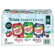 Canada Dry Ginger Ale Winter Variety Pack, 36 pk./12 oz. cans