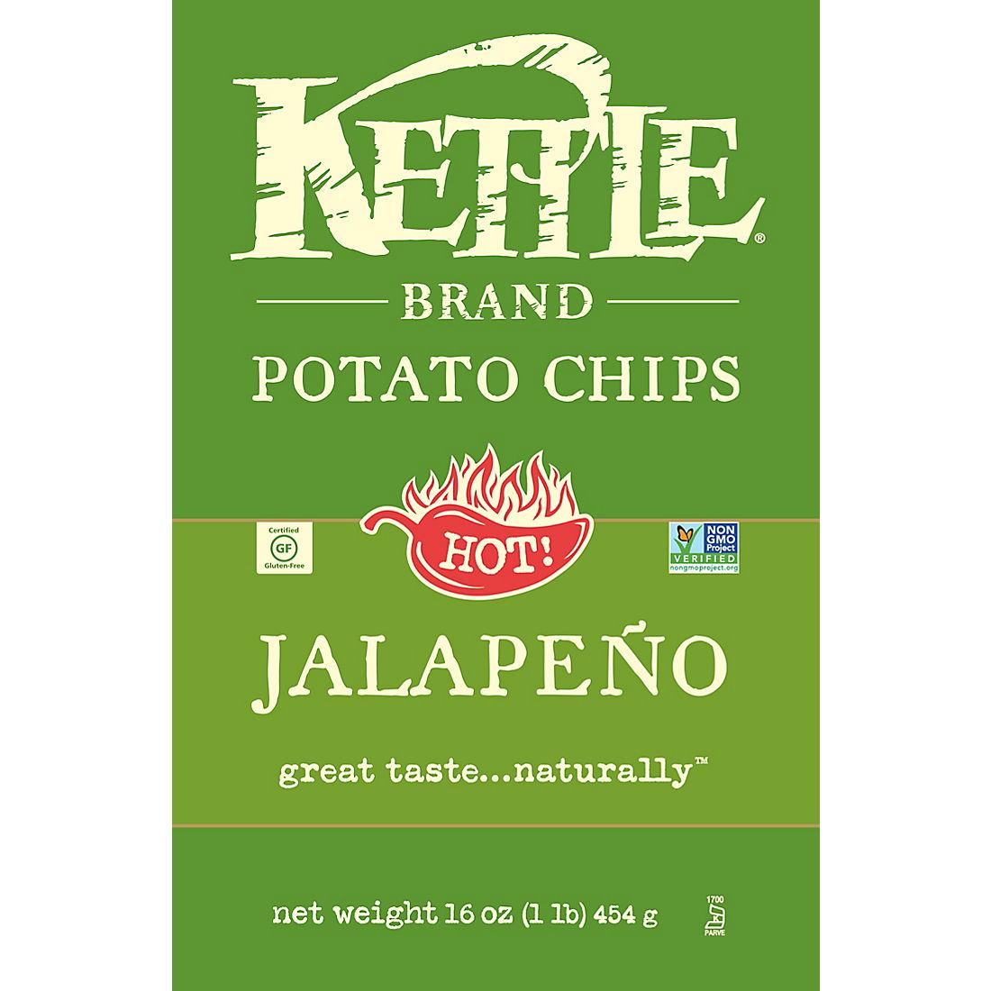 Kettle Jalapeno Potato Chips, 16 oz