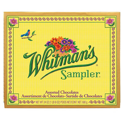 Whitmans 60-Pc. Assorted Chocolates Sampler, 24 oz.
