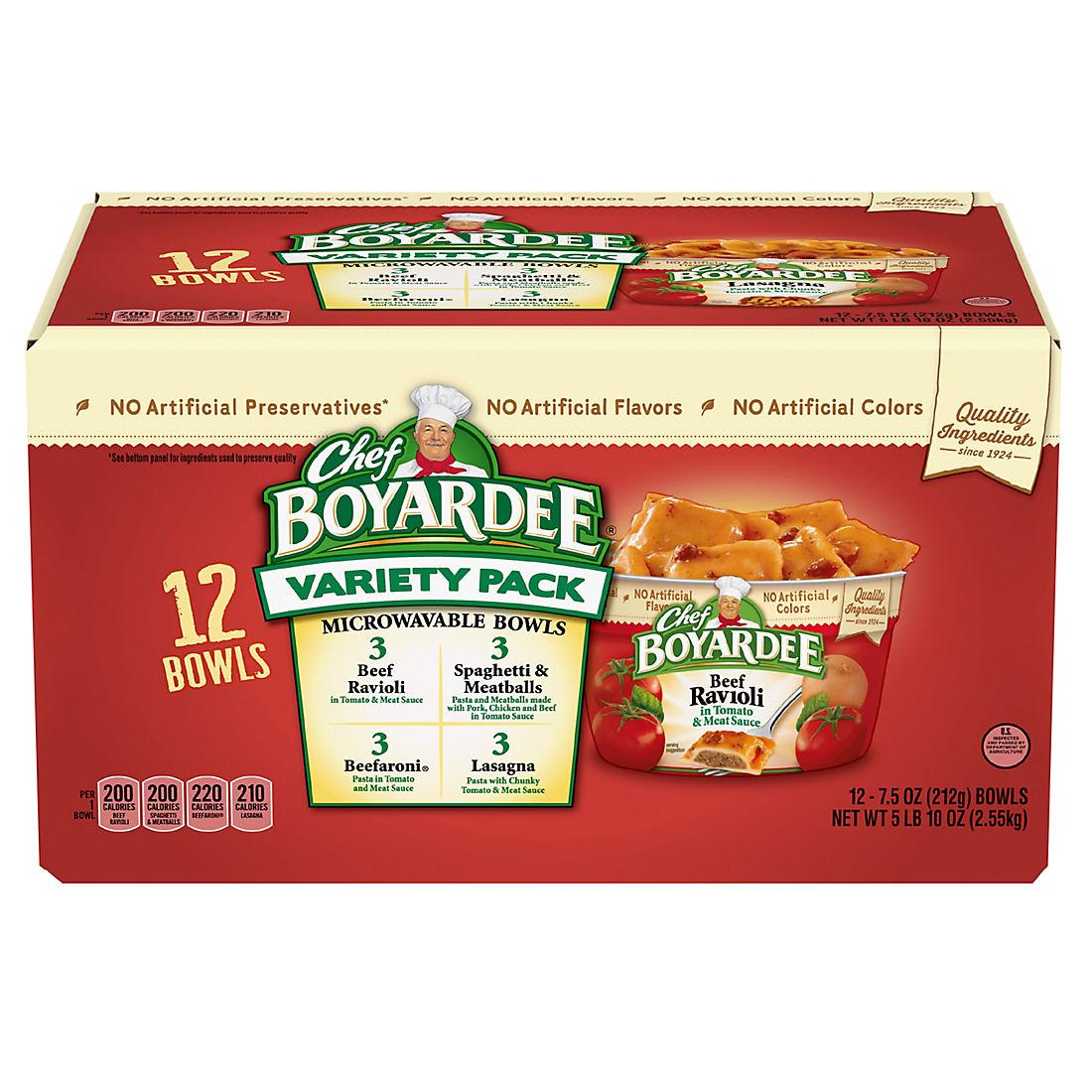 Chef Boyardee Variety Microwave Cups 12 Ct 90 Oz