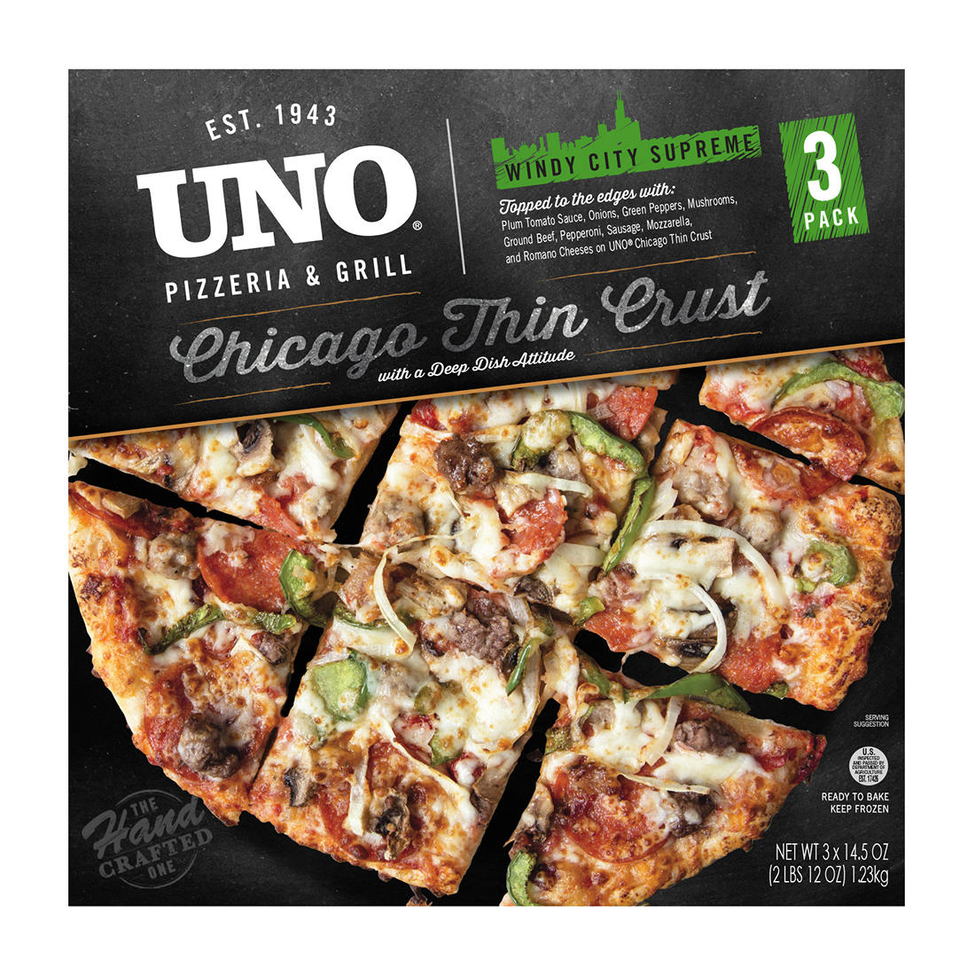 graphic about Uno Coupons Printable referred to as Uno Pizzeria and Grill Chicago Slim Crust, 3 ct.