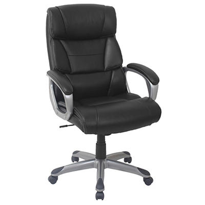 Berkley Jensen Bonded Leather Manager Chair - Black/Gray