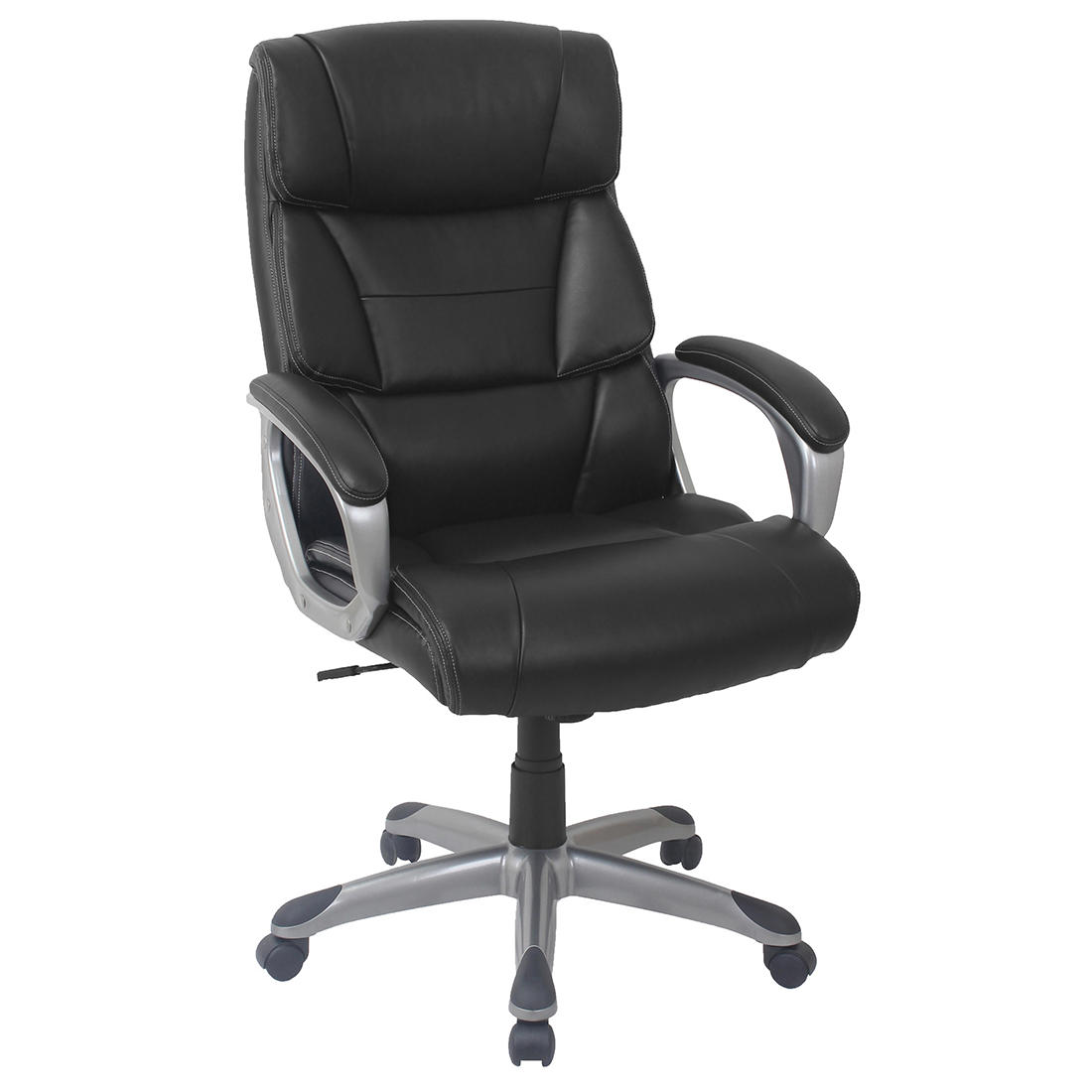 Black Leather Accent Chairs For Bariatric.Berkley Jensen Bonded Leather Manager Chair Black Gray