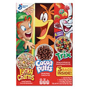 General Mills Lucky Charms, Cocoa Puffs and Trix Cereal Variety Pack, 3 pk.