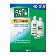 Opti-Free RepleniSH Multi-Purpose Disinfecting Solution, 2 pk./14 fl. oz. with Lens Case