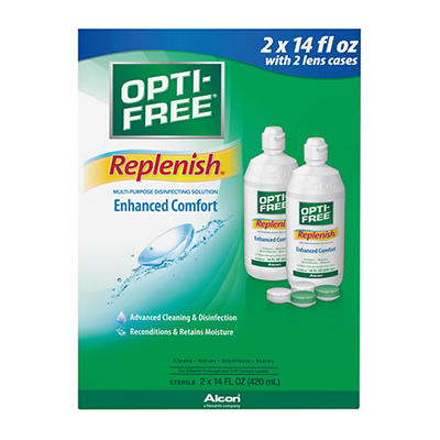 Opti-Free RepleniSH Multi-Purpose Disinfecting Solution, 2 pk./14 fl.