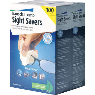 Bausch & Lomb Sight Savers Premoistened Lens Cleaning Tissues, 2 pk./1