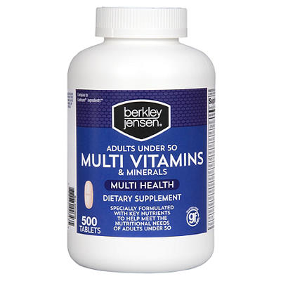 Berkley Jensen Multivitamins & Minerals Dietary Supplement Tablets, 50
